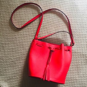 Red Bucket Bag